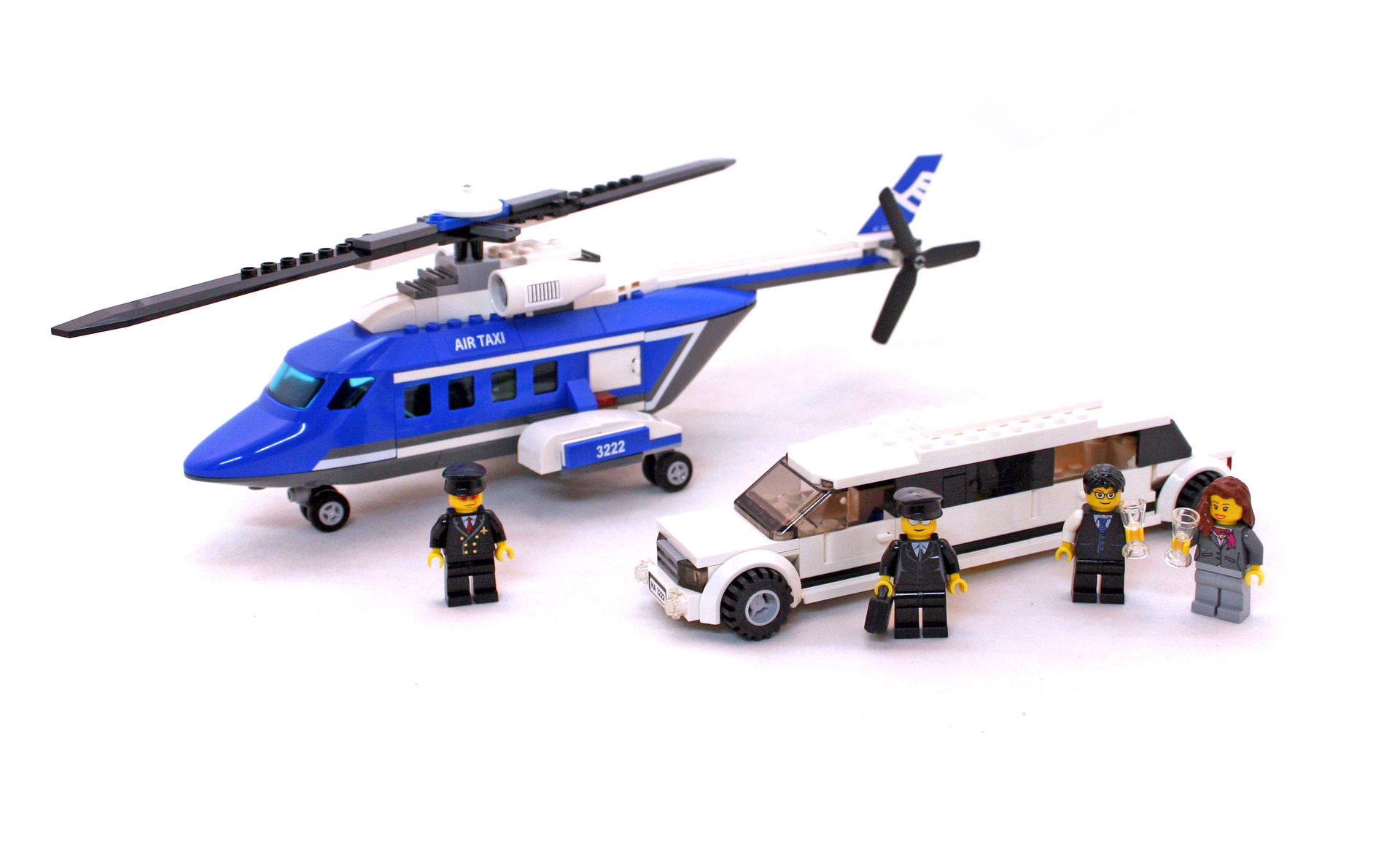 Helicopter And Limousine Lego Set 3222 1 Building Sets City