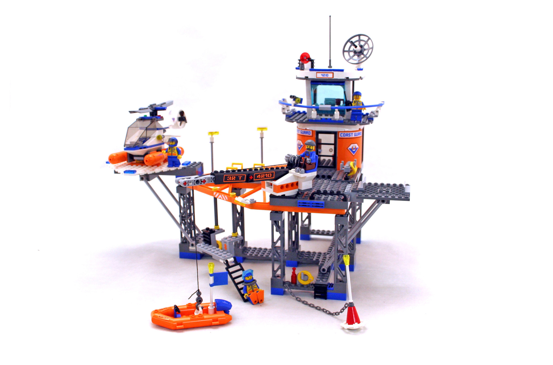 Coast Guard Platform - LEGO set #4210-1 (Building Sets > City)