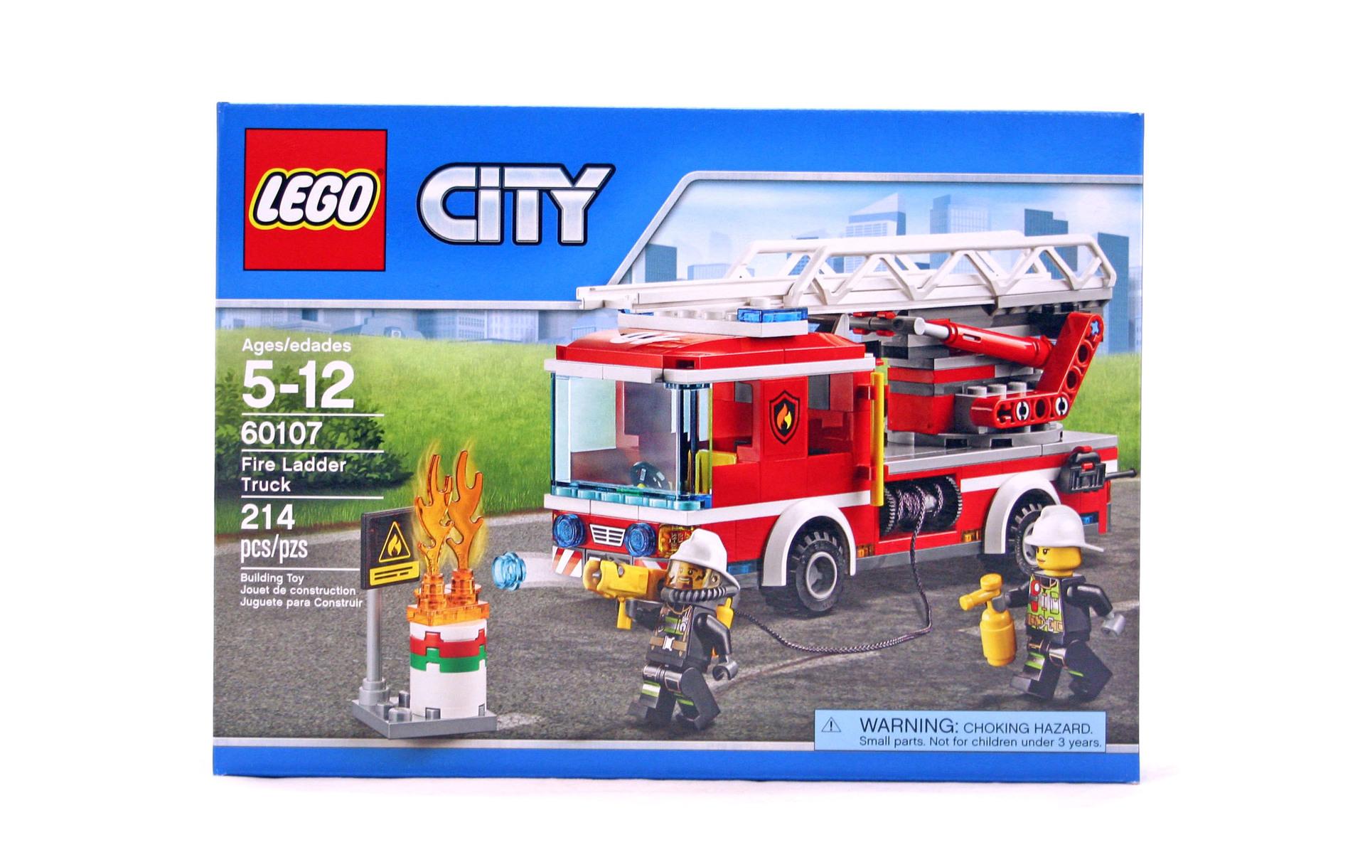 Fire Ladder Truck Lego Set 60107 1 Nisb Building
