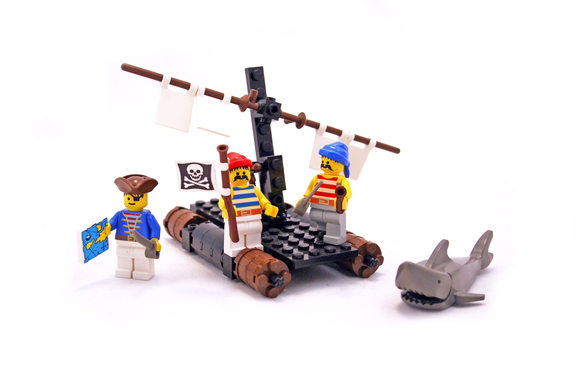 LEGO 6257 PIRATES With Instructions 100/% complete Castaway/'s Raft