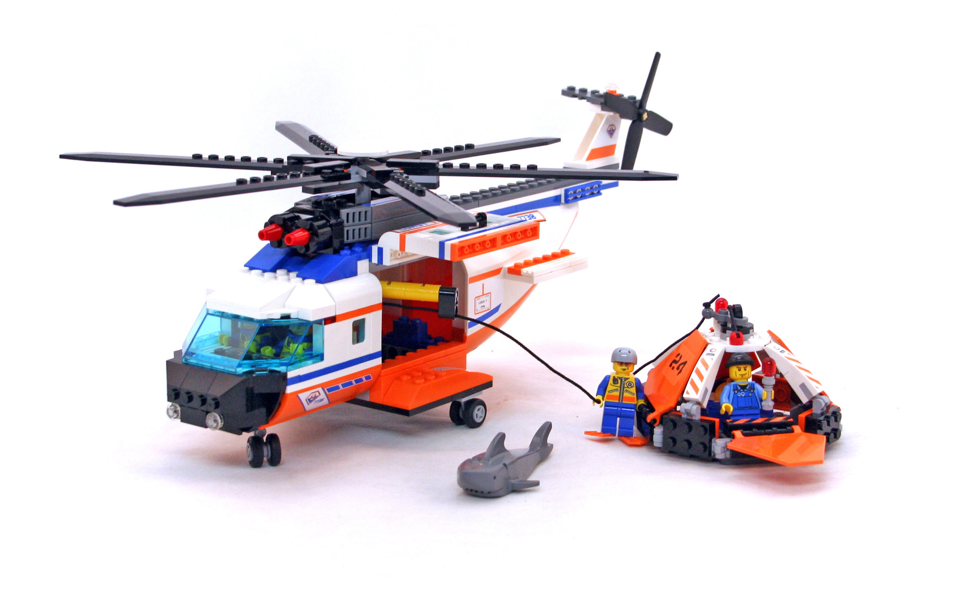Coast Guard Helicopter & Life Raft - LEGO set #7738-1 ...