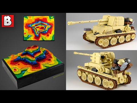 LEGO Rainbow Topography and WWII Artillery   TOP 10 MOCs