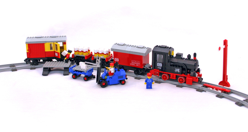 Steam Cargo Train Set - LEGO set #7722-1