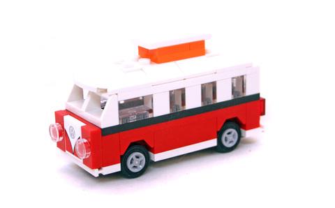 Mini VW T1 Camper Van - LEGO set #40079-1