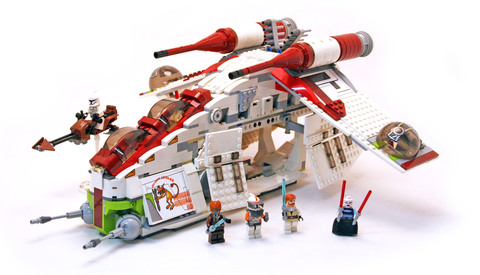Republic Attack Gunship - LEGO set #7676-1