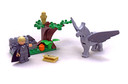 Draco's Encounter with Buckbeak - LEGO set #4750-1