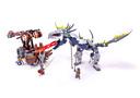 Viking Double Catapault versus the Armoured Ofnir Dragon - LEGO set #7021-1
