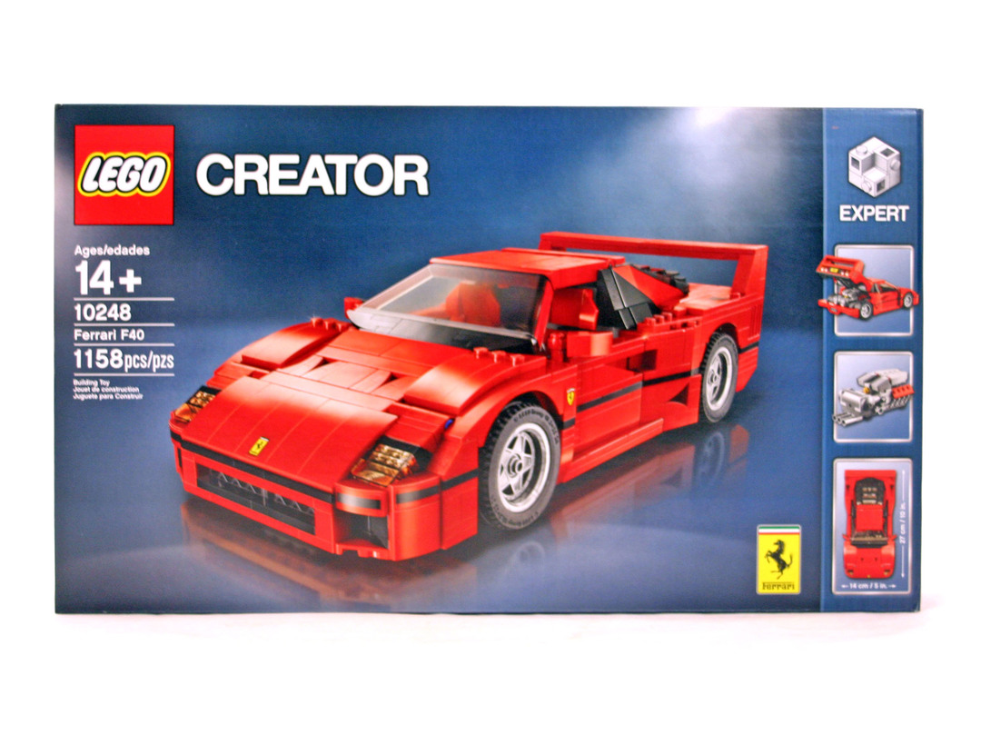 ferrari f40 lego set 10248 1 nisb building sets creator. Black Bedroom Furniture Sets. Home Design Ideas