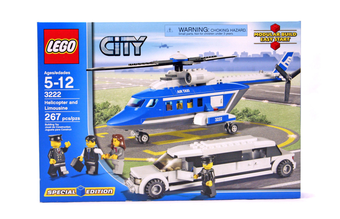 Helicopter And Limousine Lego Set 3222 1 Nisb Building Sets
