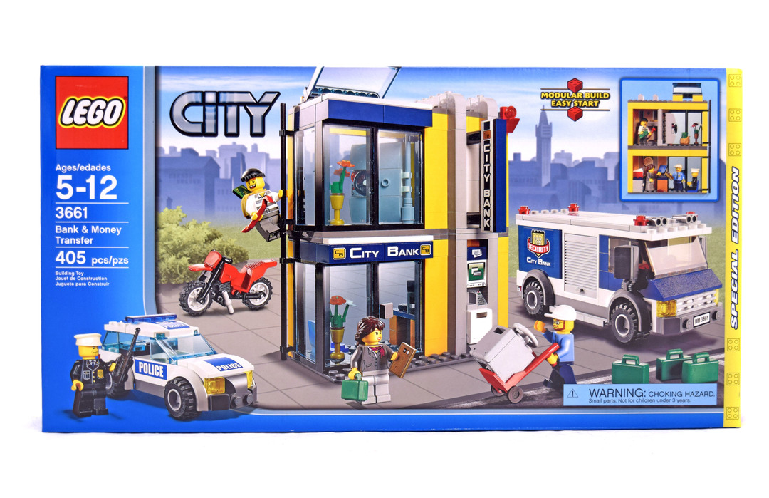 Bank Money Transfer Lego Set 3661 1 Nisb Building Sets