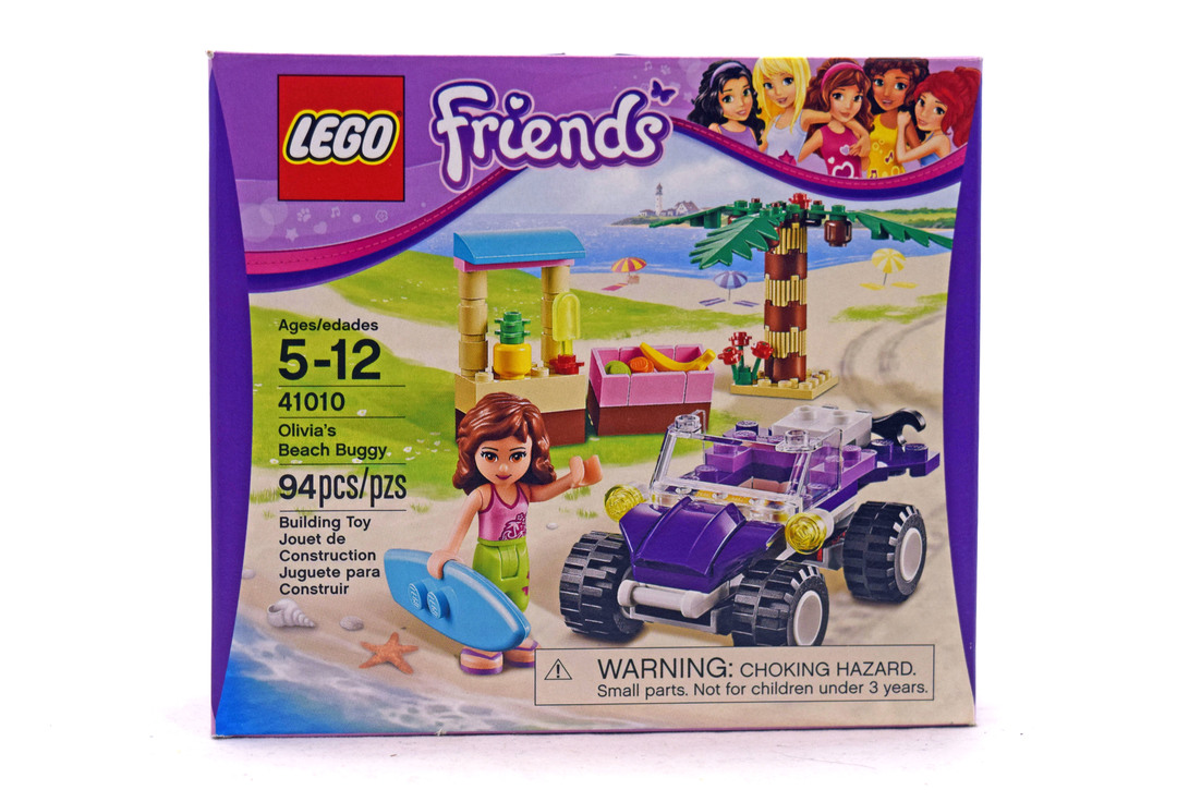 LEGO 41010 FRIENDS OLIVIA/'S BEACH BUGGY SET NISB 94 pieces  age 5-12