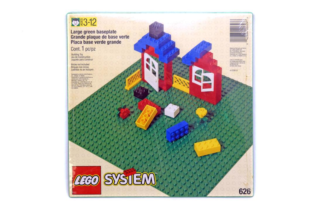 Building Plate, Green - LEGO set #626-1 (NISB)