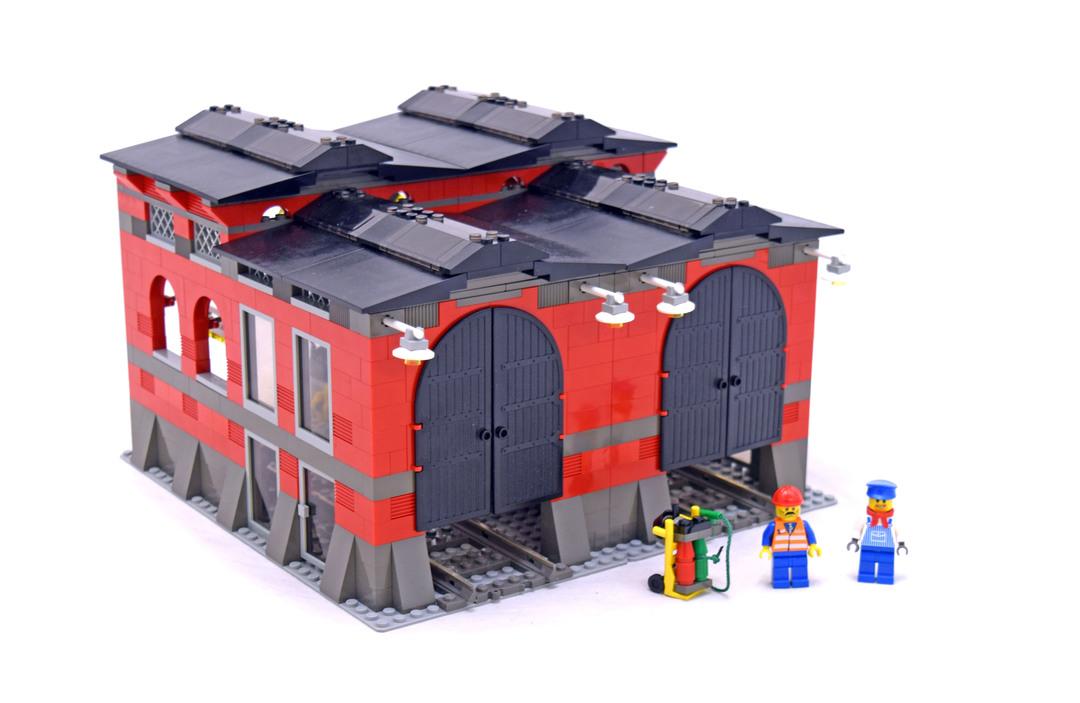 train engine shed lego set 10027 1 building sets city train. Black Bedroom Furniture Sets. Home Design Ideas