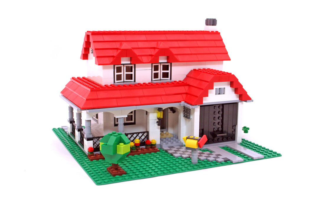 how to build a house in lego