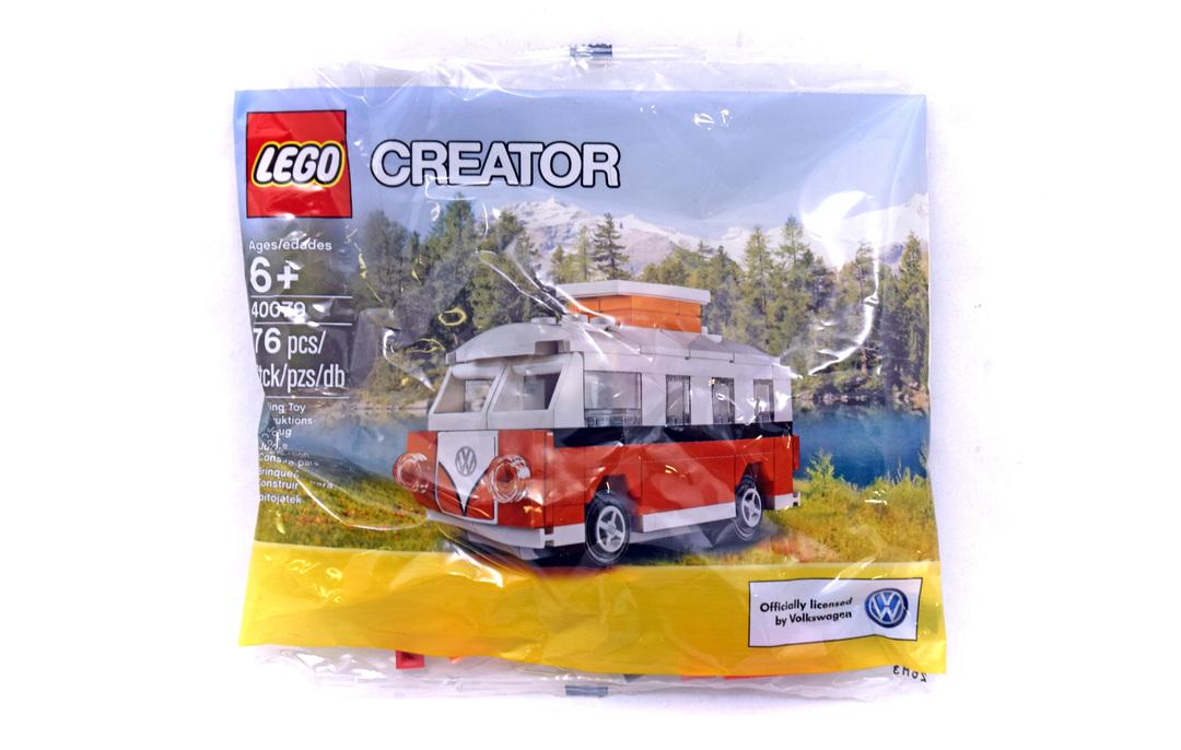 Mini Vw T1 Camper Van Lego Set 40079 1 Nisb Building Sets