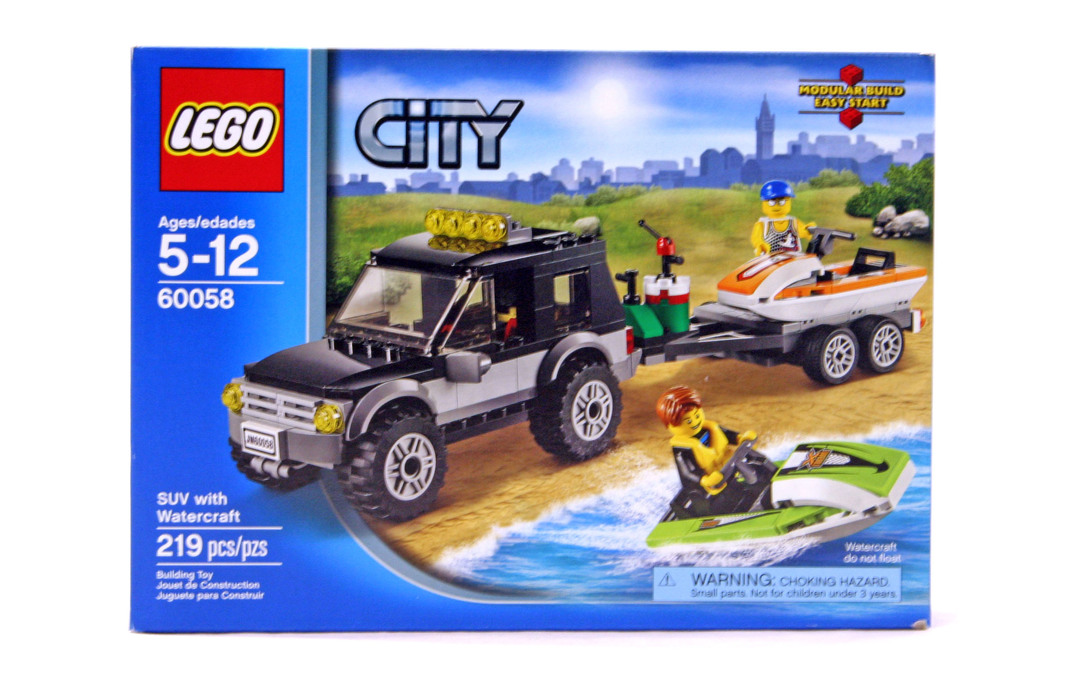 Suv With Watercraft Lego Set 60058 1 Nisb Building Sets City