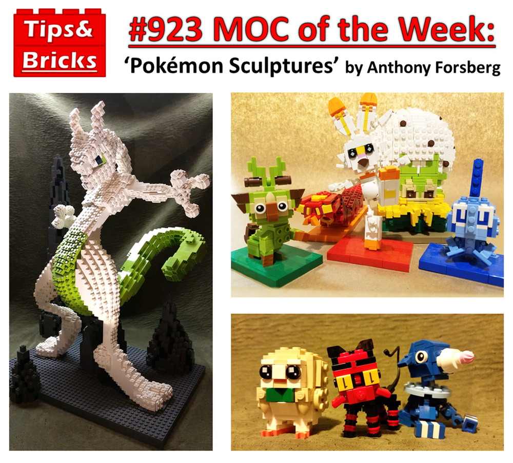 #923 MOC of the Week: Pokémon by Anthony Forsberg