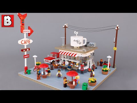 LEGO Coffee Stand | Andy's Cafe -Custom Modular