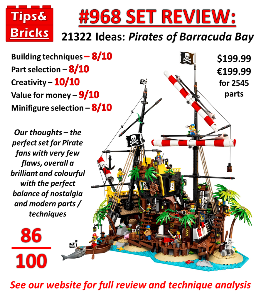 #968 SET REVIEW: 21322 Ideas: Pirates of Barracuda Bay