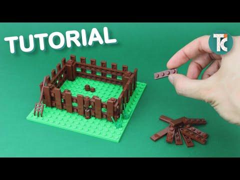 LEGO Wooden Fence (Tutorial)