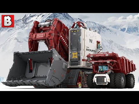 Fusion Powered Mining Excavator in LEGO! | TOP 10 MOCs