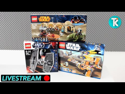Building OLD Star Wars LEGO sets (Livestream)