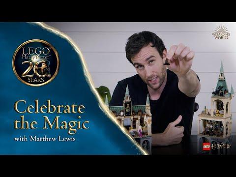 Building 20 Harry Potter Scenes in LEGO with Neville Longbottom Actor Matthew Lewis