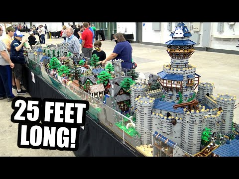 500,000 Pieces! Huge LEGO Castle Village with 1,000+ Minifigs