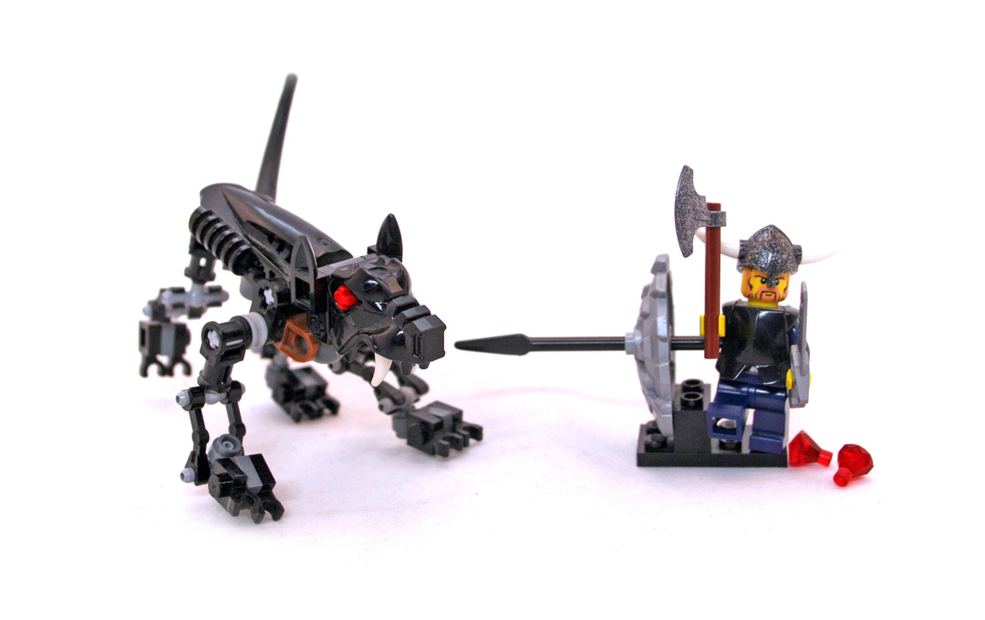 Viking Warrior Challenges The Fenris Wolf Lego Set 7015 1