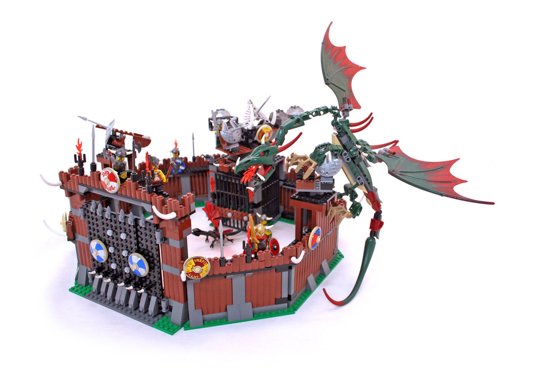 Viking Fortress Against The Fafnir Dragon Lego Set 7019 1