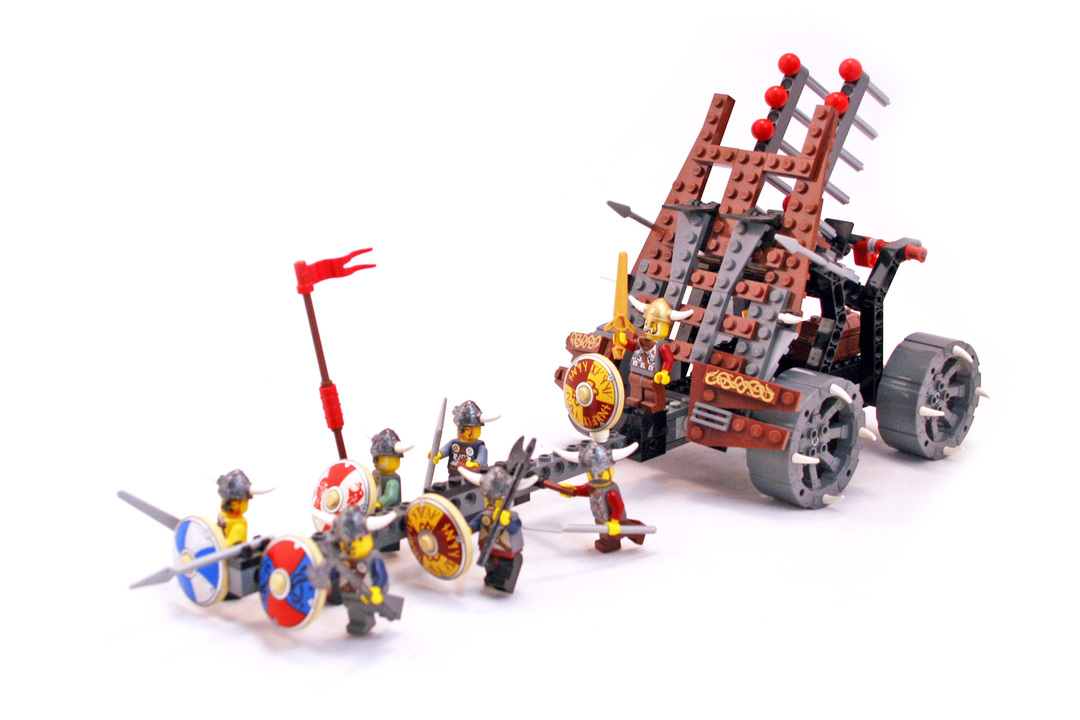 Army Of Vikings With Heavy Artillery Wagon Lego Set 7020 1