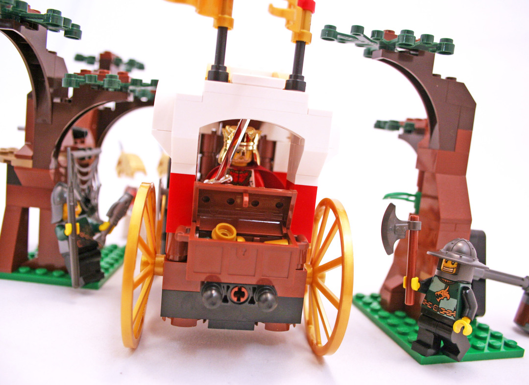 lego castle carriage instructions