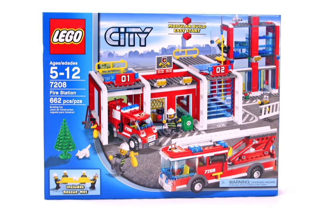 Fire Station Lego Set 7208 1 Nisb Building Sets City Fire