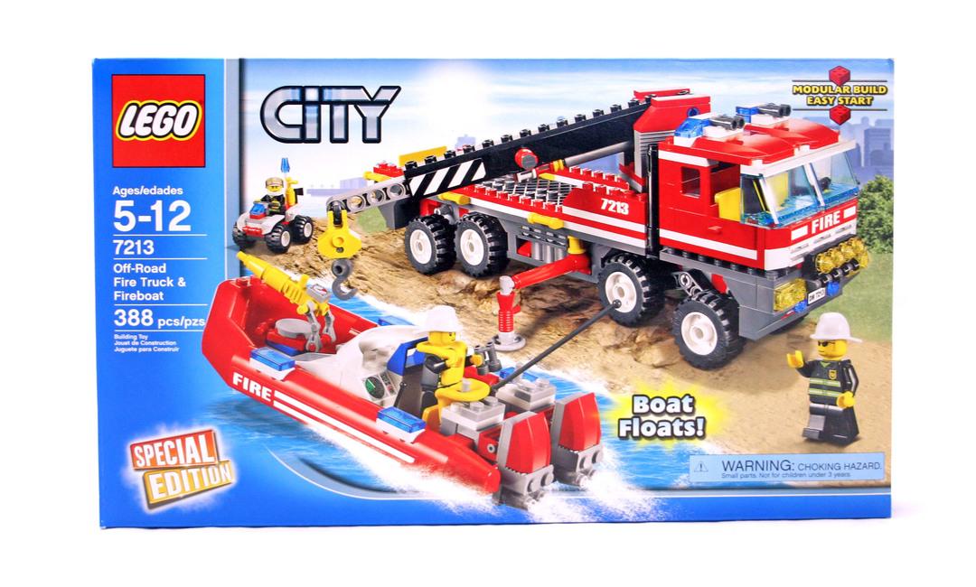 Off Road Fire Truck Fireboat Lego Set 7213 1 Nisb Building