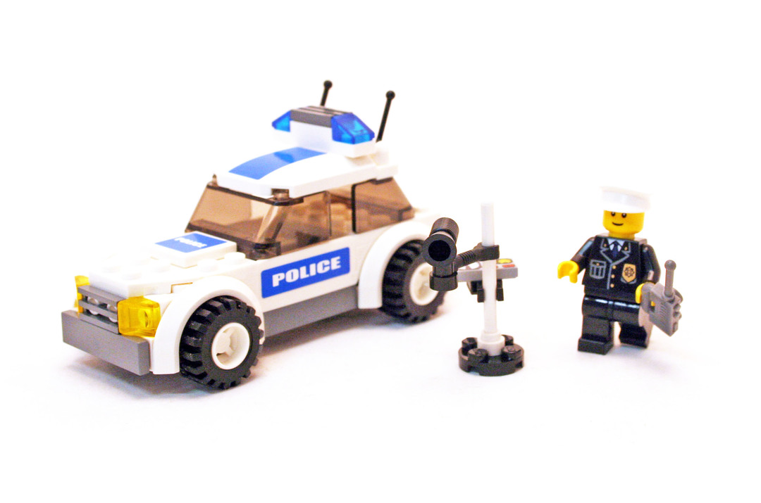 Police Car Lego Set 7236 2 Building Sets City