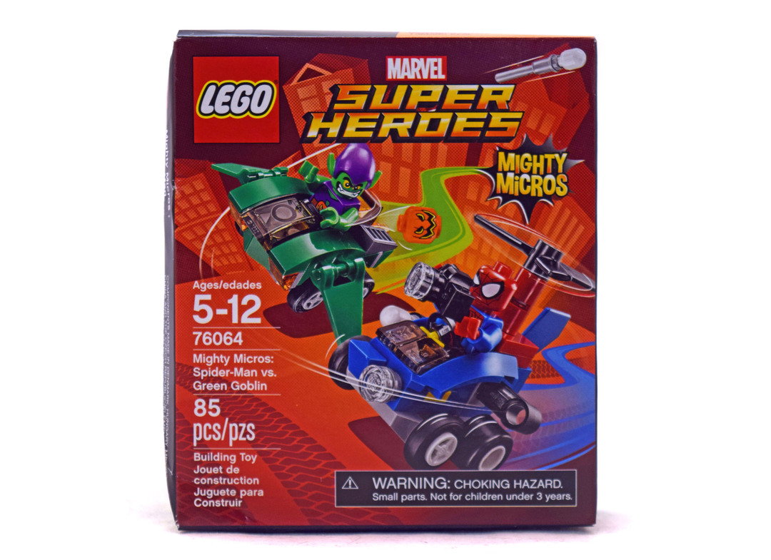Mighty Micros: Spider-Man vs. Green Goblin - LEGO set #76064-1 (NISB)