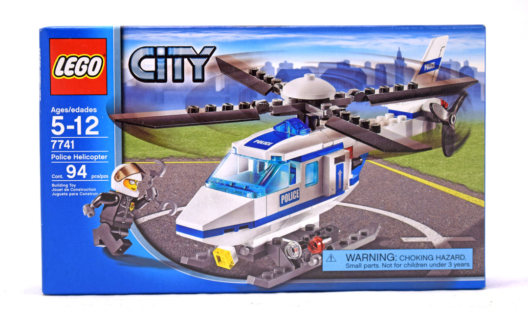 police helicopter lego set 77411 nisb building sets