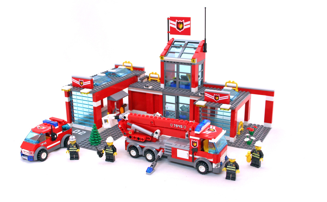 Fire Station Lego Set 7945 1 Building Sets City Fire